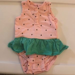 Baby girl watermelon Jumper
